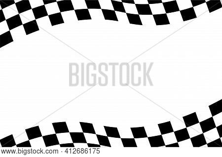 Checkered Flag Background Illustration. Race Background. Racing Flag Vector Illustration. Flag Race