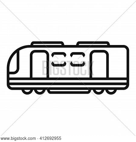 Electric Train Transport Icon. Outline Electric Train Transport Vector Icon For Web Design Isolated