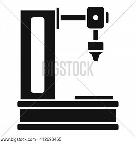 Milling Machine Icon. Simple Illustration Of Milling Machine Vector Icon For Web Design Isolated On