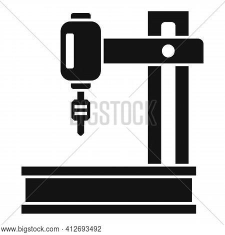 Laser Milling Machine Icon. Simple Illustration Of Laser Milling Machine Vector Icon For Web Design