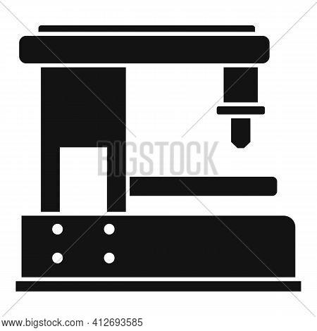 Cnc Milling Machine Icon. Simple Illustration Of Cnc Milling Machine Vector Icon For Web Design Isol