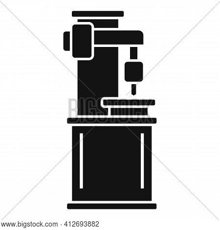 Milling Machine Metalwork Icon. Simple Illustration Of Milling Machine Metalwork Vector Icon For Web