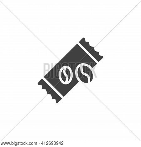 Coffee Sachet Vector Icon. Filled Flat Sign For Mobile Concept And Web Design. Instant Coffee Stick