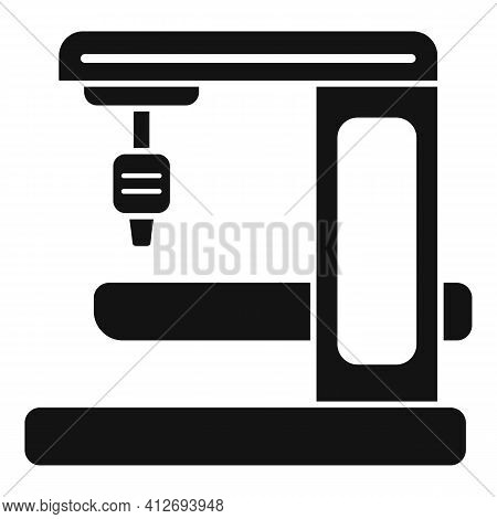 Milling Machine Gear Icon. Simple Illustration Of Milling Machine Gear Vector Icon For Web Design Is