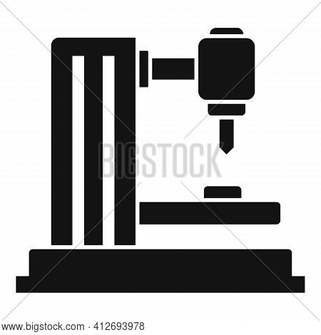 Industrial Milling Machine Icon. Simple Illustration Of Industrial Milling Machine Vector Icon For W