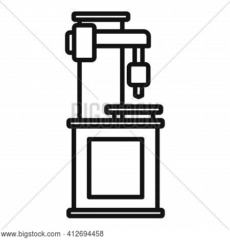Milling Machine Metalwork Icon. Outline Milling Machine Metalwork Vector Icon For Web Design Isolate