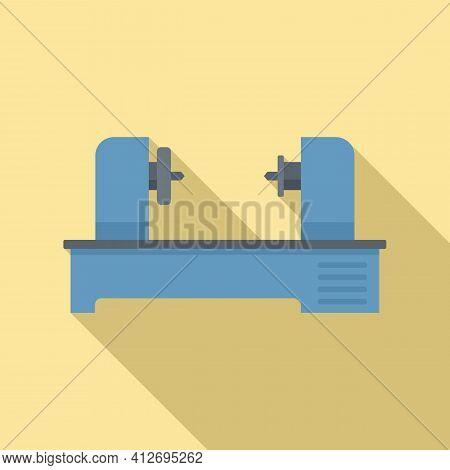 Automated Lathe Icon. Flat Illustration Of Automated Lathe Vector Icon For Web Design
