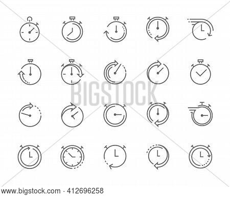 Stop Watch Symbol, Fast Time Icon, Express And Urgent Services.
