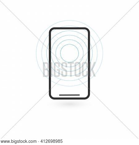 Wireless Charging Phones. Wireless Charging Phones Outline. Wireless Battery Charge. Outline Icon Po