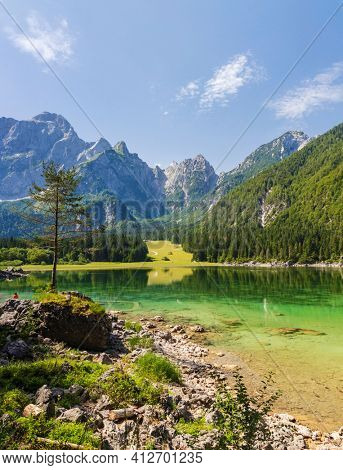 Lago di Fusine superiore near Tarvisio, Italy