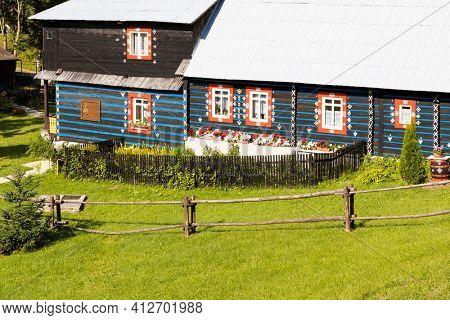 folk architecture in Zdar under Belianske Tatras, Slovakia