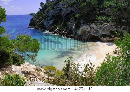 Beautiful beach in Menorca