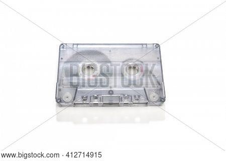 Retro Tape Cassette Isolated   Audio Tape