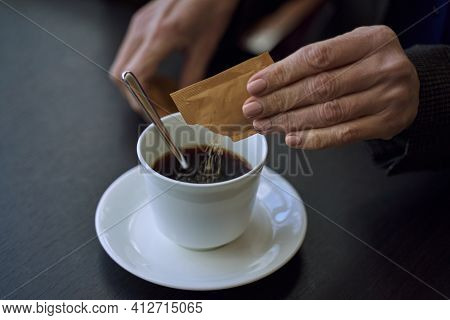 Little Sachet Of Sugar To Sweeten Your Coffee