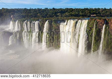 Iguazu Falls Or Waterfall Landscape