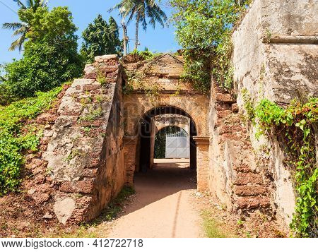 Entrance Gate Of Negombo Dutch Fort Remains. Negombo Fort Was A Small But Important Fort In Negombo,