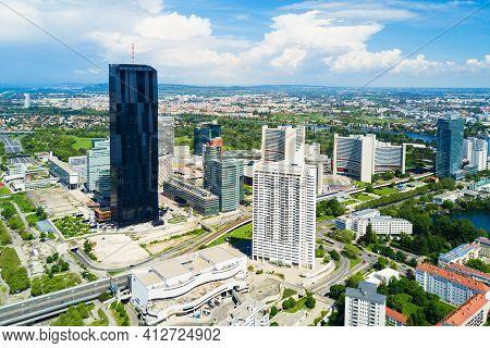 Danube District Aerial, Vienna