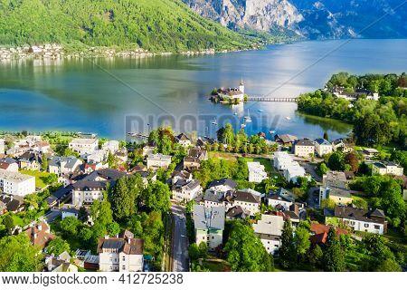 Gmunden Castle Aerial View