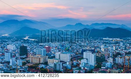 Nha Trang Skyline Aerial View