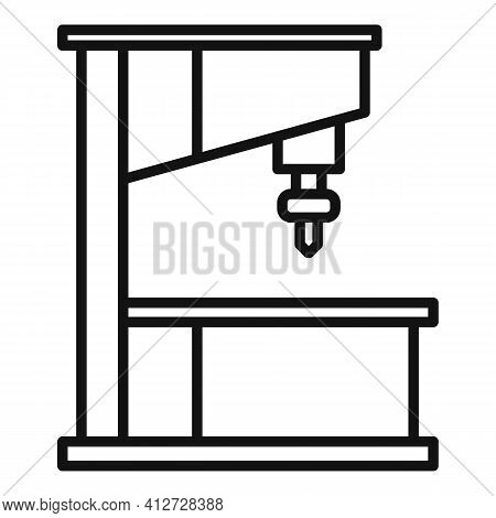 Manufacture Milling Machine Icon. Outline Manufacture Milling Machine Vector Icon For Web Design Iso