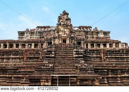 The Baphuon Is A Temple At Angkor, Cambodia. Baphuon Is Located In Angkor Thom, Northwest Of The Bay