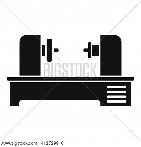 Automated Lathe Icon. Simple Illustration Of Automated Lathe Vector Icon For Web Design Isolated On
