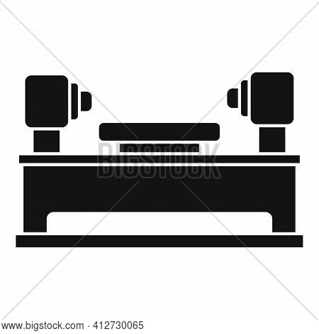 Lathe Equipment Icon. Simple Illustration Of Lathe Equipment Vector Icon For Web Design Isolated On