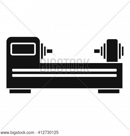 Cnc Lathe Icon. Simple Illustration Of Cnc Lathe Vector Icon For Web Design Isolated On White Backgr