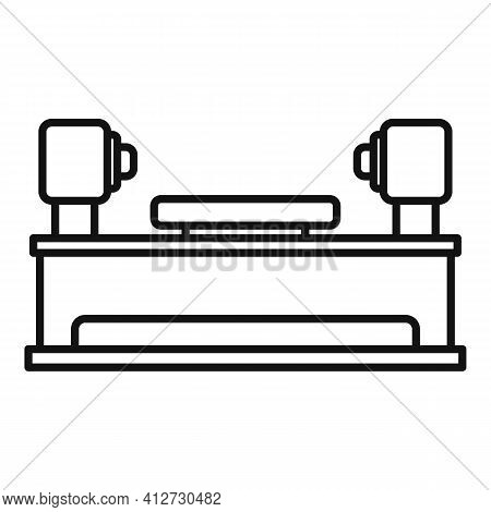 Lathe Equipment Icon. Outline Lathe Equipment Vector Icon For Web Design Isolated On White Backgroun
