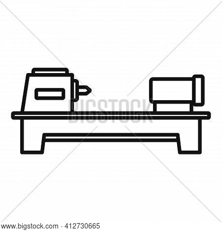 Press Lathe Icon. Outline Press Lathe Vector Icon For Web Design Isolated On White Background