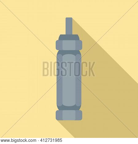 Tire Fitting Screwdriver Icon. Flat Illustration Of Tire Fitting Screwdriver Vector Icon For Web Des