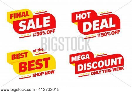 Final Sale Hot Deal Mega Discount Limited Time Template Set. Only This Week Up To 50 Percent Off Pri