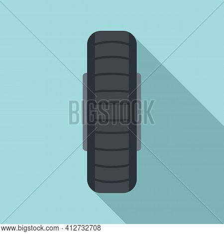 Spare Wheel Icon. Flat Illustration Of Spare Wheel Vector Icon For Web Design