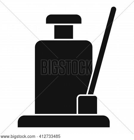 Hydraulic Jack Icon. Simple Illustration Of Hydraulic Jack Vector Icon For Web Design Isolated On Wh