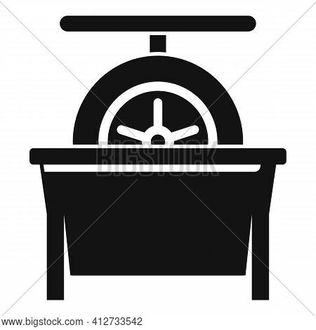 Tire Fitting Calibration Icon. Simple Illustration Of Tire Fitting Calibration Vector Icon For Web D