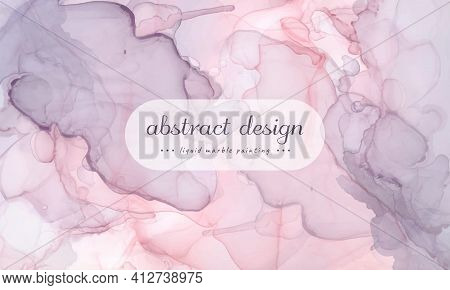 Graphic Alcohol Inks. Watercolor Marble Stone. Wedding Art Background. Creative Simple Texture. Flui