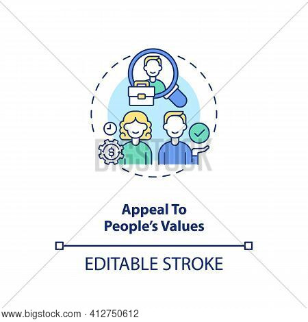 Appeal To Values Of People Concept Icon. Effective Motivator Idea Thin Line Illustration. Motivating