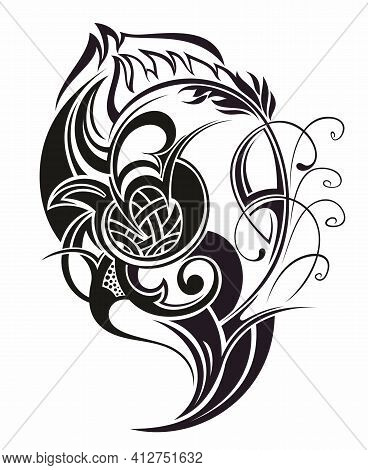 Tribal Tattoo Design Element. Vector Illustration For Your Design