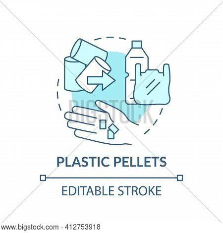 Plastic Pellets Concept Icon. Idea Thin Line Illustration. Microplastics Sources. Harmful Impact On