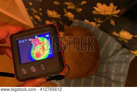 Use Of A Thermal Imager To Measure The Temperature. Thermal Imager For Industrial Facilities