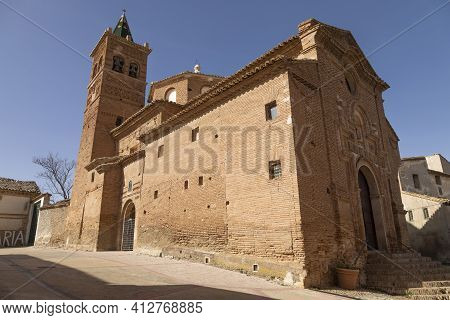 Photograph Of The Bell Tower And The Church Of Our Lady Of The Rosary, Of Baroque Mudejar Architectu