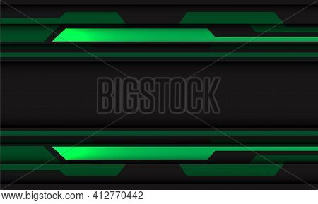 Abstract Green Grey Circuit Cyber Geometric With Blank Space Banner Design Modern Futuristic Technol