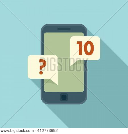 Purchasing Manager Smartphone Icon. Flat Illustration Of Purchasing Manager Smartphone Vector Icon F