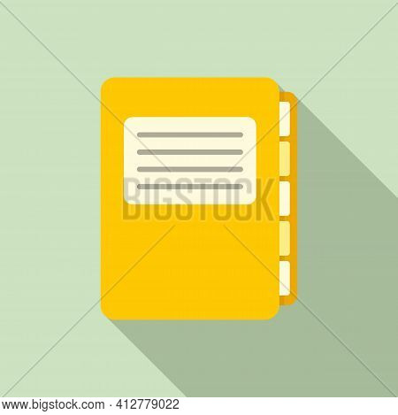 Purchasing Manager Folder Icon. Flat Illustration Of Purchasing Manager Folder Vector Icon For Web D