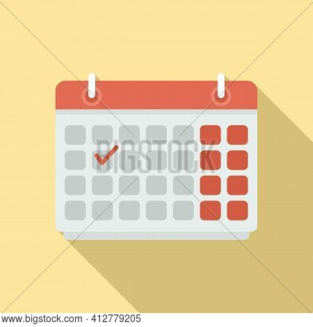 Purchasing Manager Calendar Icon. Flat Illustration Of Purchasing Manager Calendar Vector Icon For W