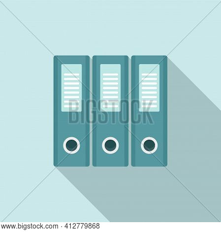 Transaction Folders Icon. Flat Illustration Of Transaction Folders Vector Icon For Web Design