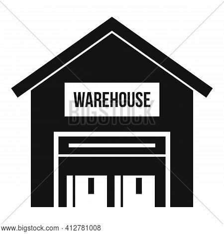 Warehouse Icon. Simple Illustration Of Warehouse Vector Icon For Web Design Isolated On White Backgr
