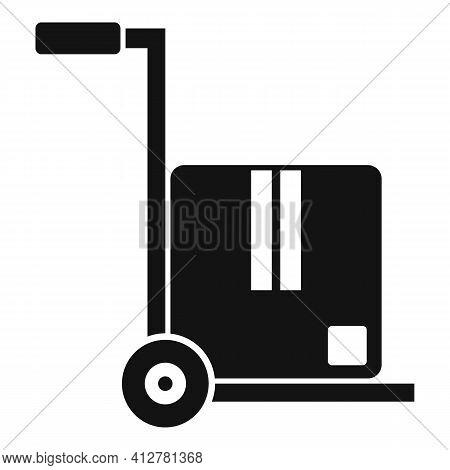 Warehouse Cart Icon. Simple Illustration Of Warehouse Cart Vector Icon For Web Design Isolated On Wh