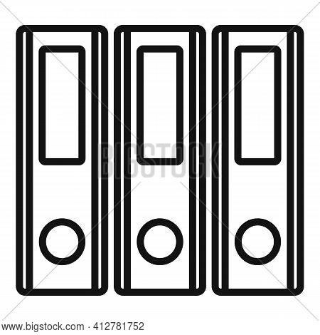 Transaction Folders Icon. Outline Transaction Folders Vector Icon For Web Design Isolated On White B