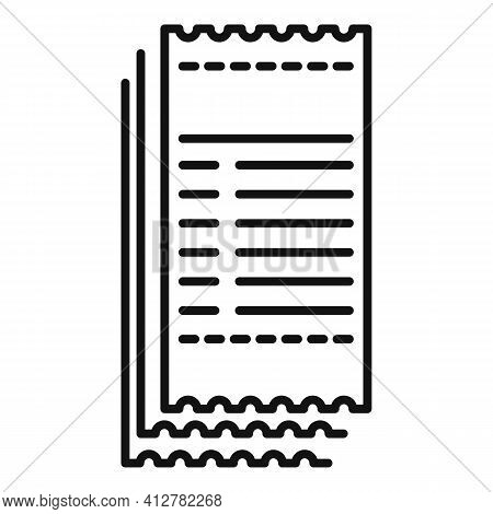 Payment Bill Icon. Outline Payment Bill Vector Icon For Web Design Isolated On White Background
